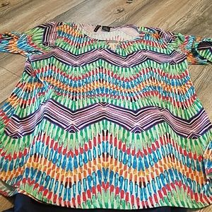 new directions 1x blouse vibrant colors